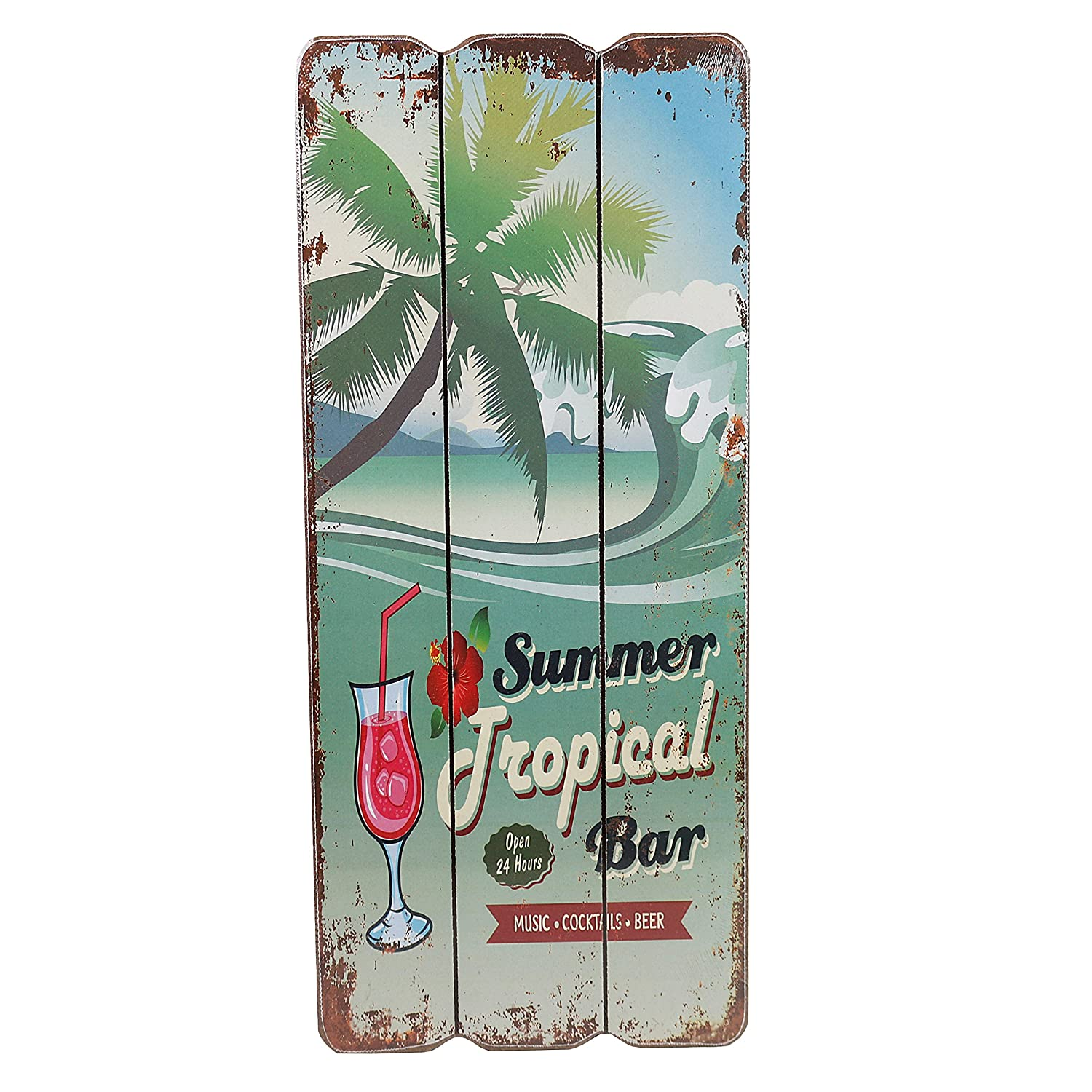 Amazon.de: Holzschild BEACH BAR Tropical Bar Wandschild MDF Wanddeko ...