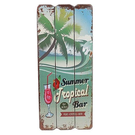 Cartel de madera, diseño con texto Beach Bar, Welcome ...