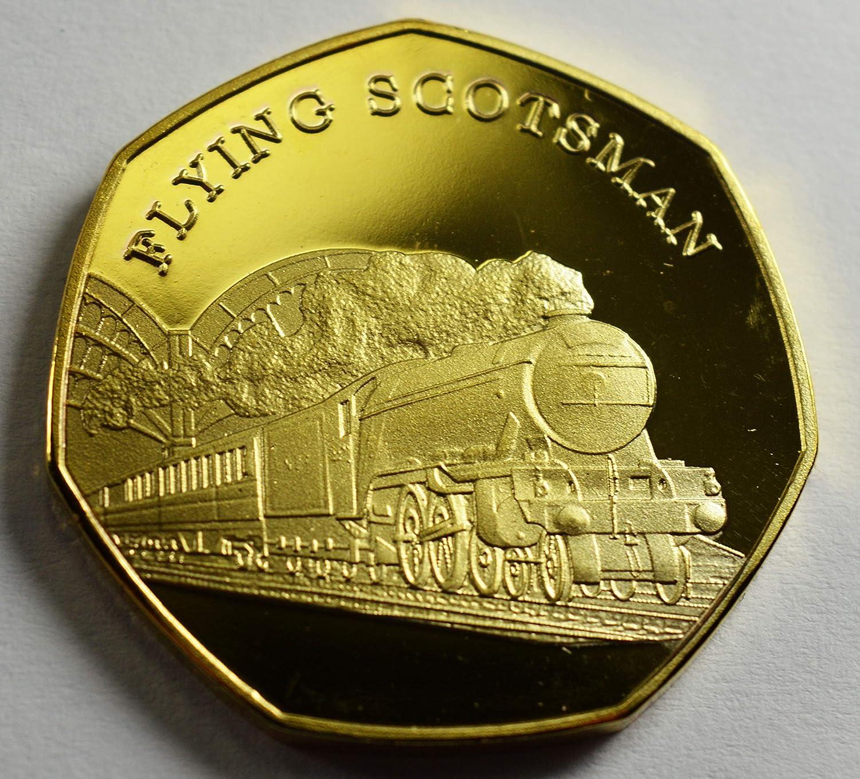 The Flying Scotsman - Álbumes de Monedas conmemorativos de Oro de 24 Quilates, coleccionistas de 50 páginas, locomotoras icónicas de Acero y Acero: Amazon.es: Hogar