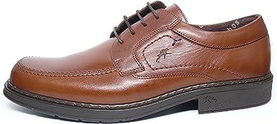 Zapatos Hombre con Cordones FLUCHOS - Piel Color Marron - 9482-83 (43, Marron)