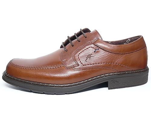 d2ea66f0bf5 Zapatos Hombre con Cordones FLUCHOS - Piel Color Marron - 9482-83   Amazon.es  Zapatos y complementos