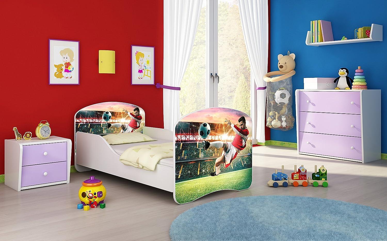 Letto per bambino Cameretta per bambino con materasso Cassetto ACMA I 37 Calciatore 2, 180x80