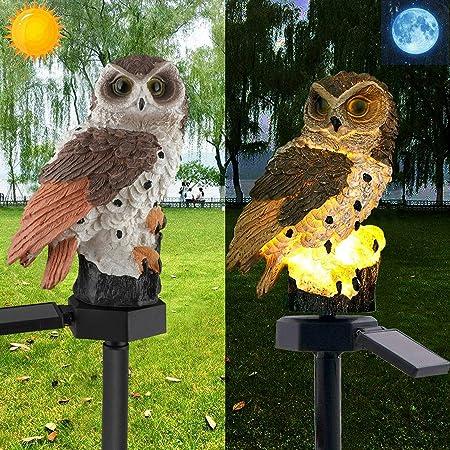 Outdoor Solar Power Garden Lights Owl Decor Path Lawn LED Yard  Light