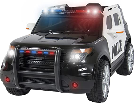 Best Choice Products Kids 12V Electric Police Ride On SUV w/ RC