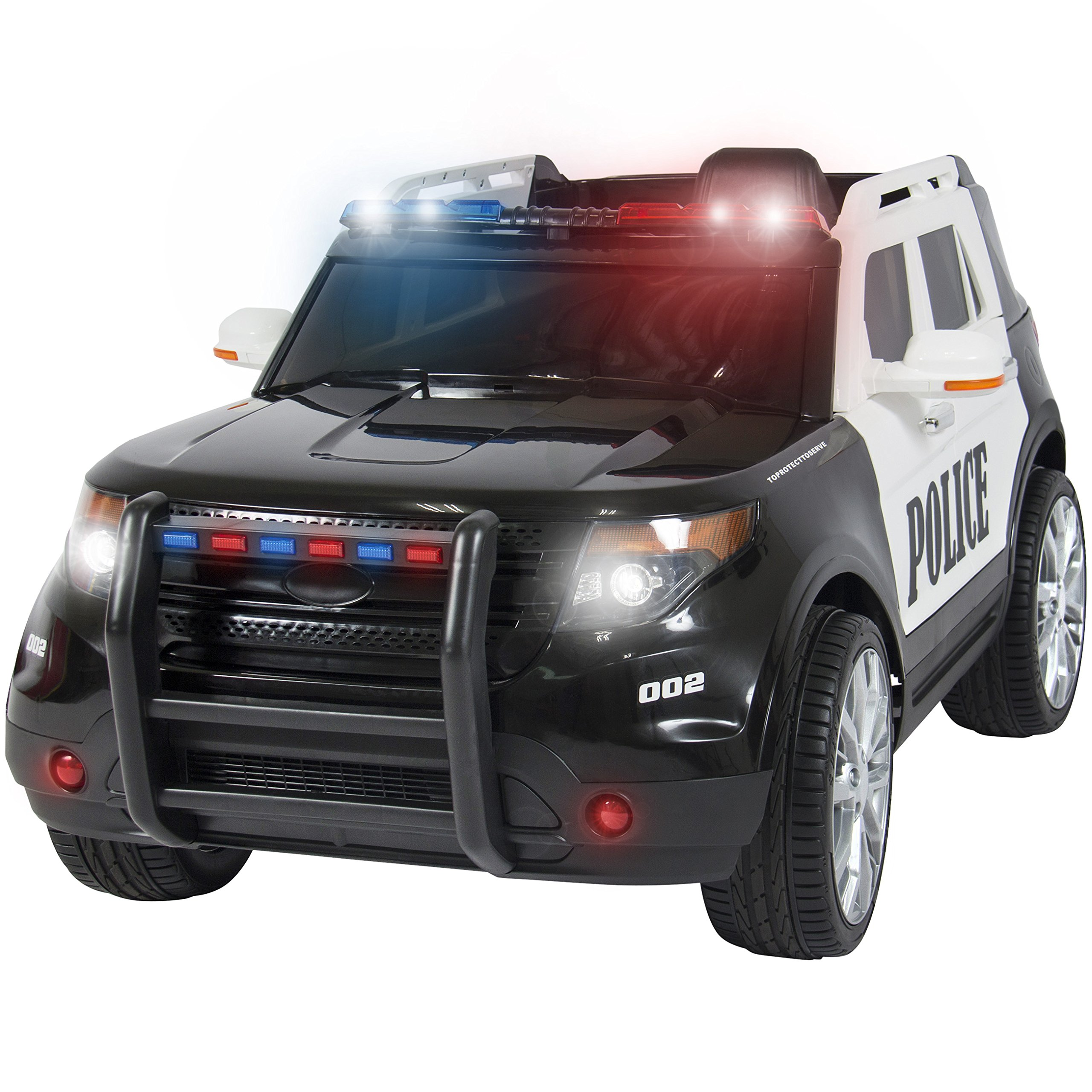 Best Choice Products Ford Style 12V Ride On Car Police Car W/ Remote Control, 2 Speeds, LED Lights by Best Choice Products