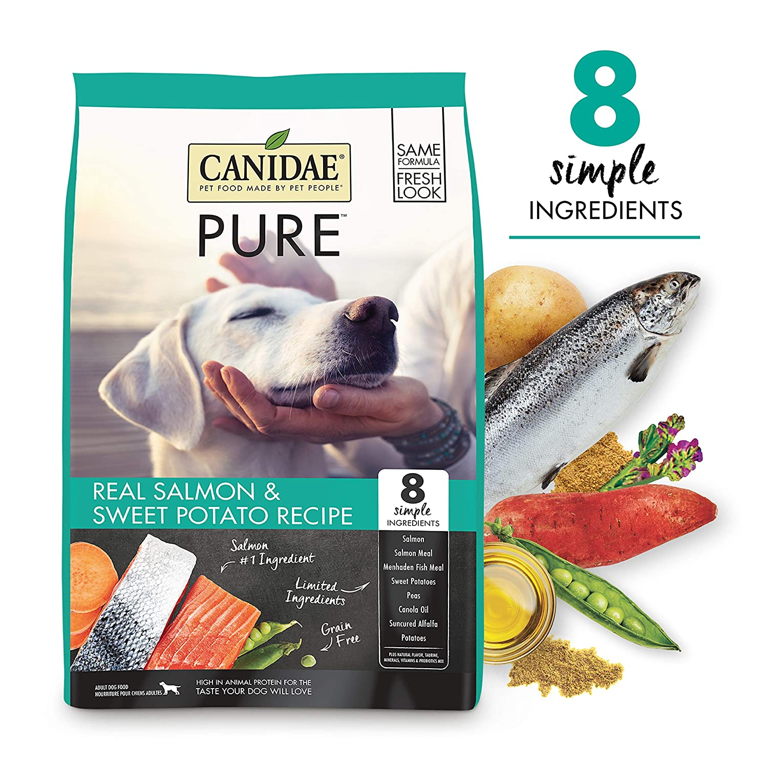 9. CANIDAE Grain-Free Pure Real Salmon & Sweet Potato Recipe