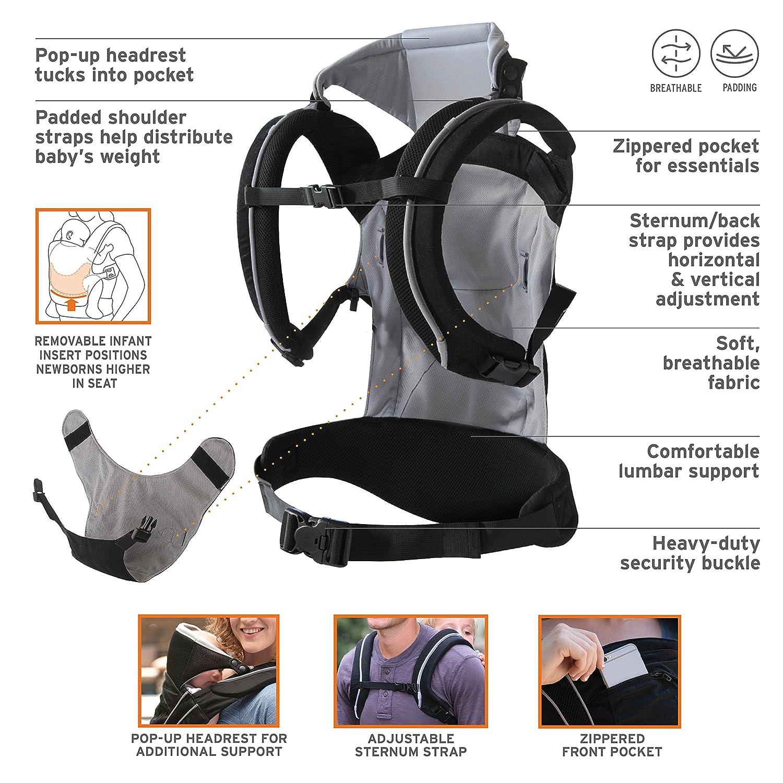 5bfd6de1a50 Amazon.com   Eddie Bauer 3-in-1 Comfort Baby Carrier