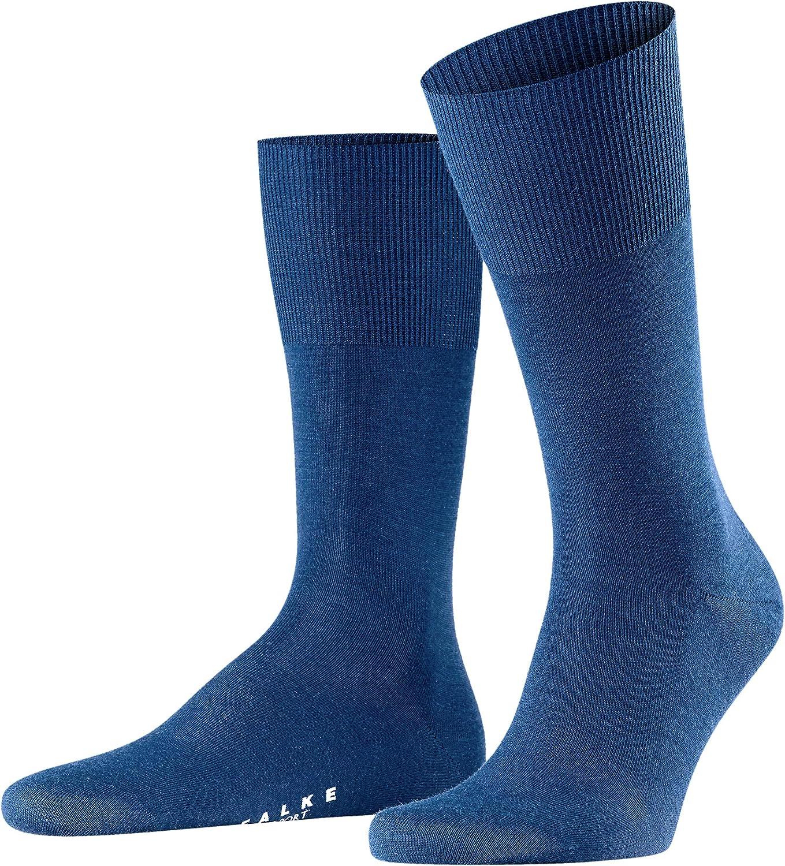 FALKE Mens Airport Socks Merino Wool Cotton Black Grey More Colors 1 Pair