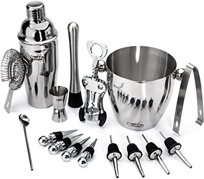 Buddy 16-Piece Wine and Cocktail Mixing Bar Set–Bartender Kit