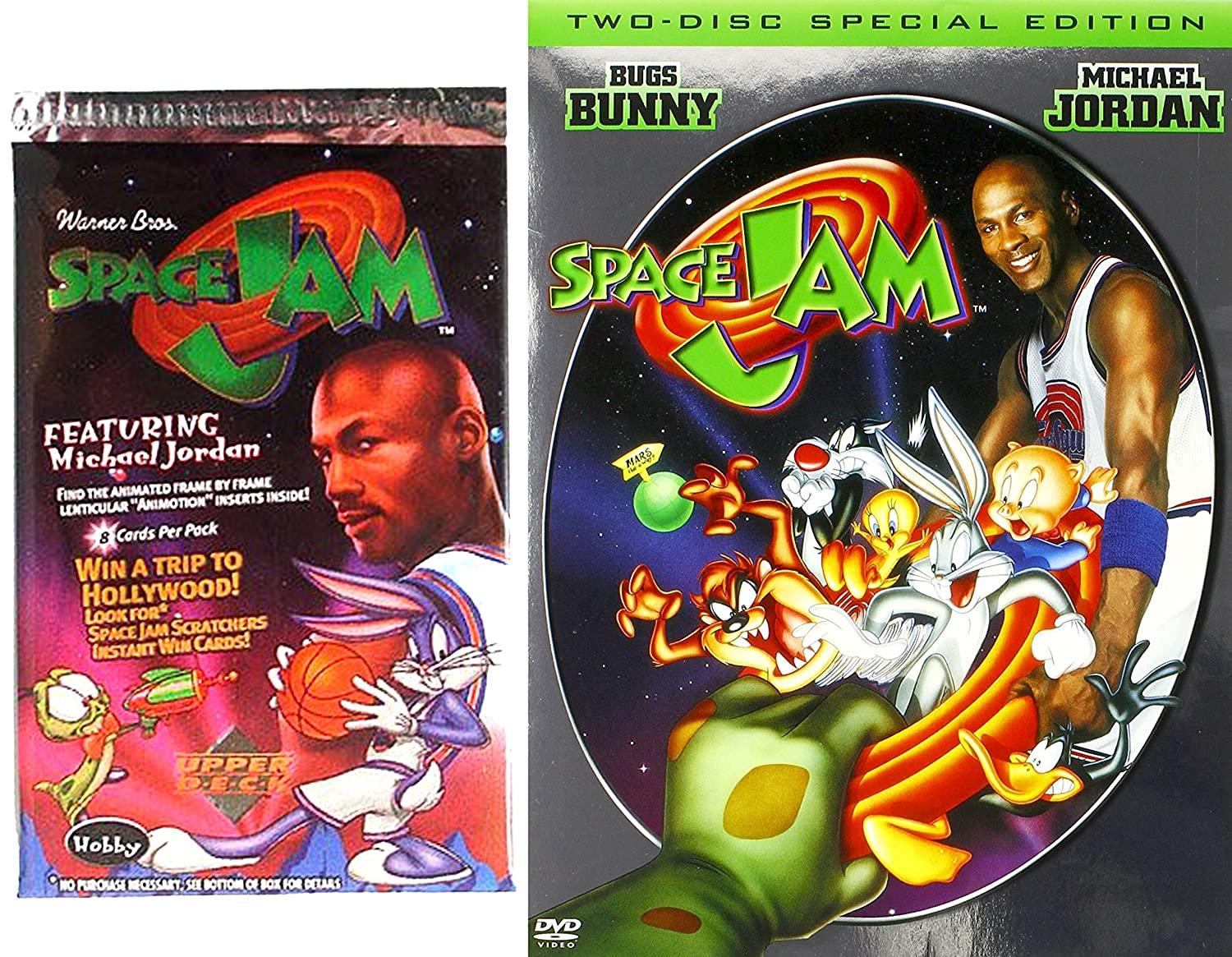 f8f376ac35c0d7 Amazon.com  SPACE JAM Special Edition Movie   Trading Card Set - 2 Disc DVD  - Looney Tunes Space Jam Trading Cards  Danny DeVito