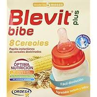 Blevit Plus Bibe 8, Cereales para bebé - 2 de 300 gr. (Total 600 gr.)
