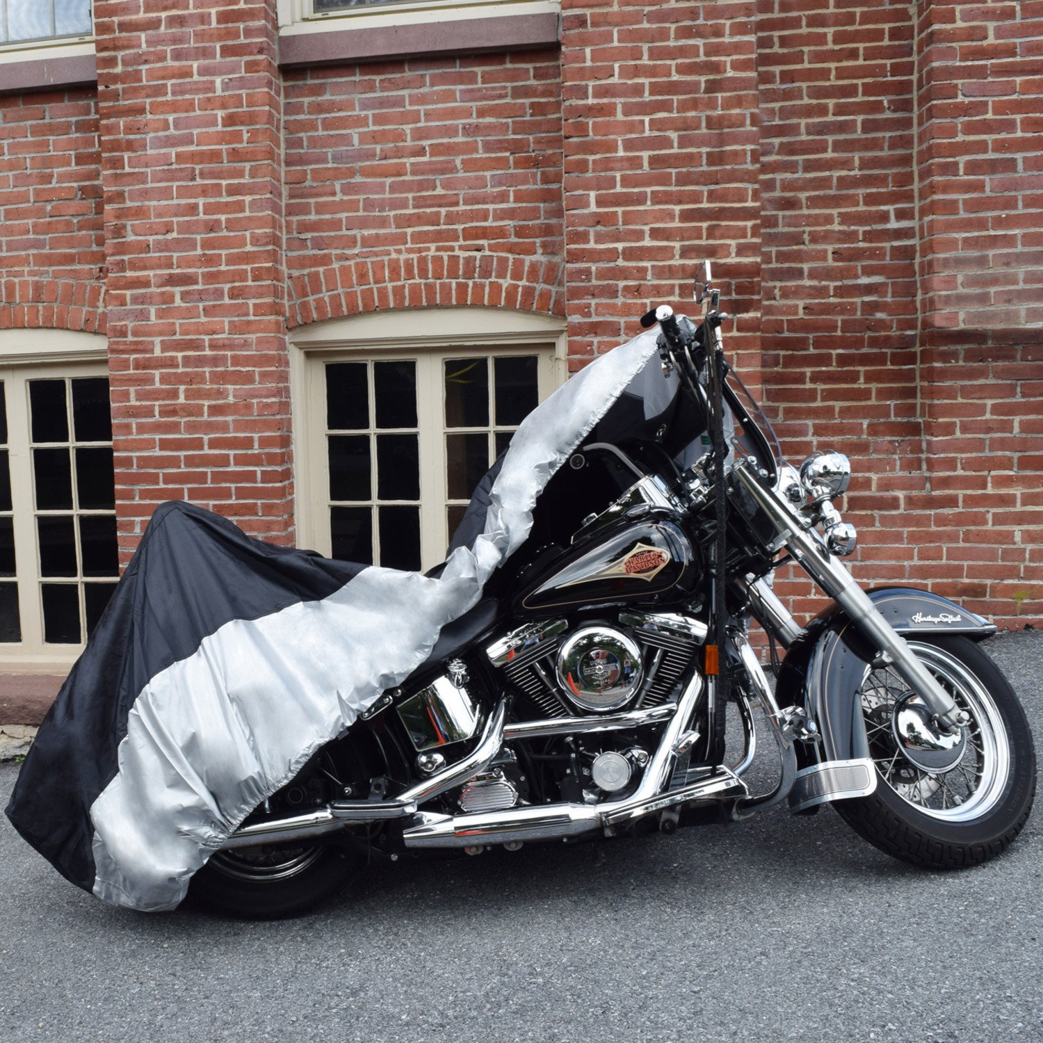 Budge Sportsman Motorcycle Cover Waterproof Fits Bob Honda Shadow Motorcycles Up To 114 Long Black Polyester Automotive