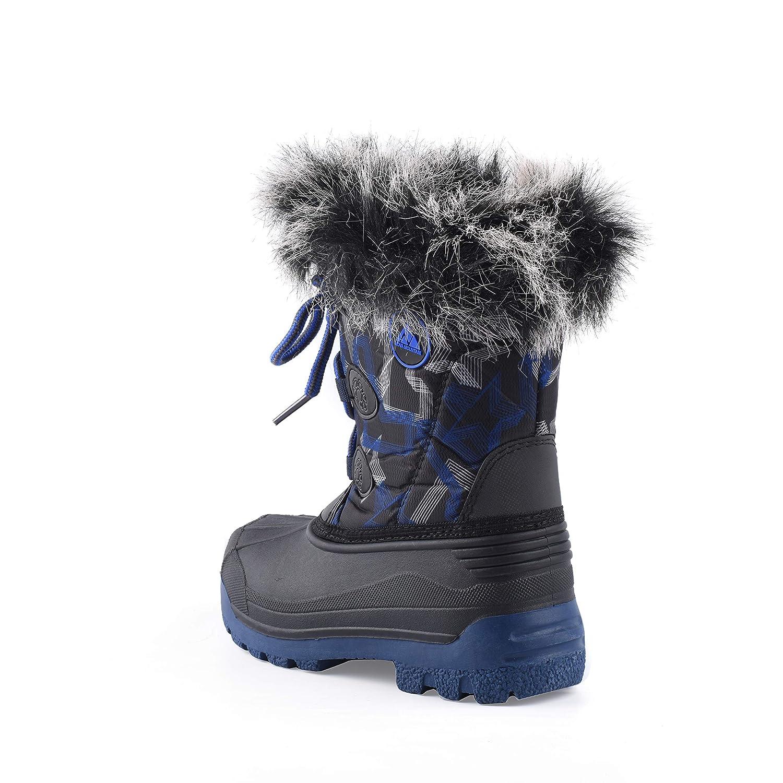 Nova Mountain Boys and Girls Waterproof Winter Snow Boots
