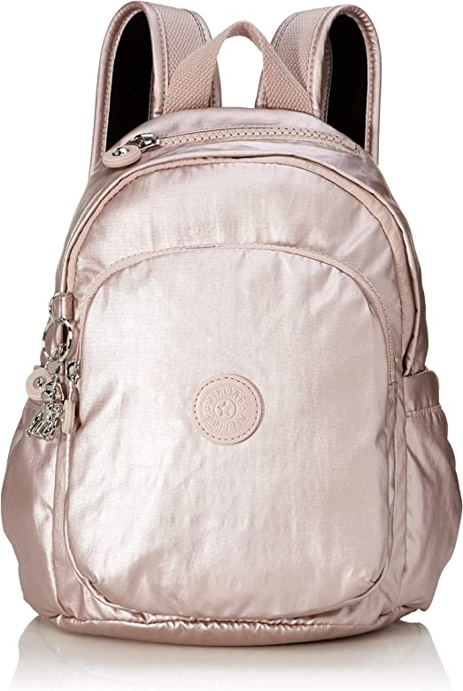 Kipling DELIA MINI - Mochila tipo casual, 8 liters, Rosa (METALLIC ROSE): Amazon.es: Zapatos y complementos