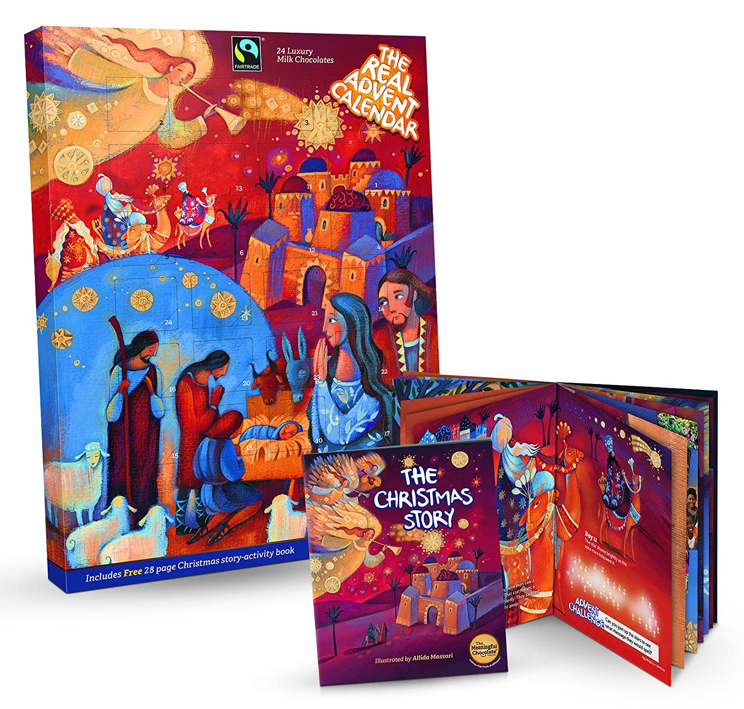The Real Advent Calendar By The Meaningful Chocolate Company 85g Chocolate