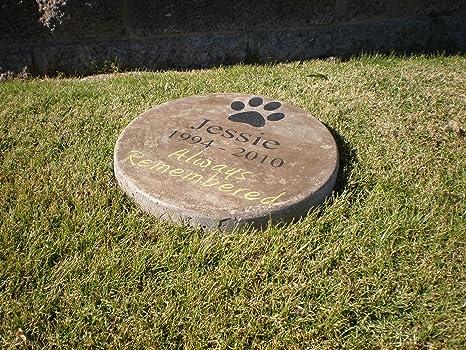 Amazon pet memorial step stone 11 diameter always remembered pet memorial step stone 11quot diameter always workwithnaturefo