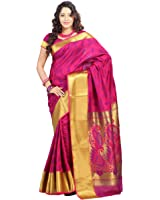 Varkala Paithani Big Border Peacock Pallu Saree, Dual Colour Rani-Violet