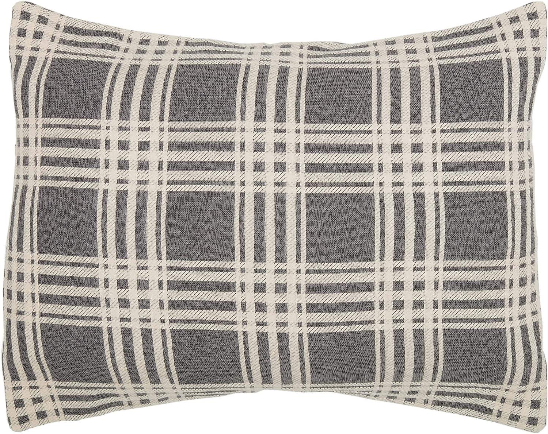 Piper Classics Logan Charcoal Throw Pillow Cover 18 x 18 Modern Farmhouse D/écor Accent Dark Gray Plaid