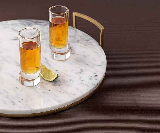 vodka o aperitivo JoyJolt Aqua Vitae limoncello Juego de 4 vasos de chupito de cristal para tequila
