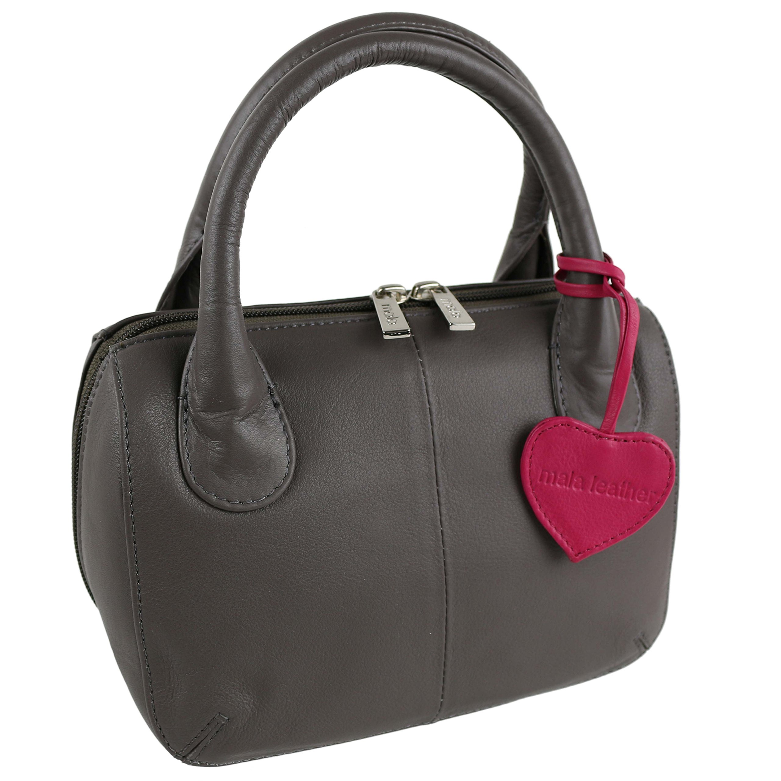 Mala Leather Women'S Leather Twin Handle Grab Bag Onesize Taupe