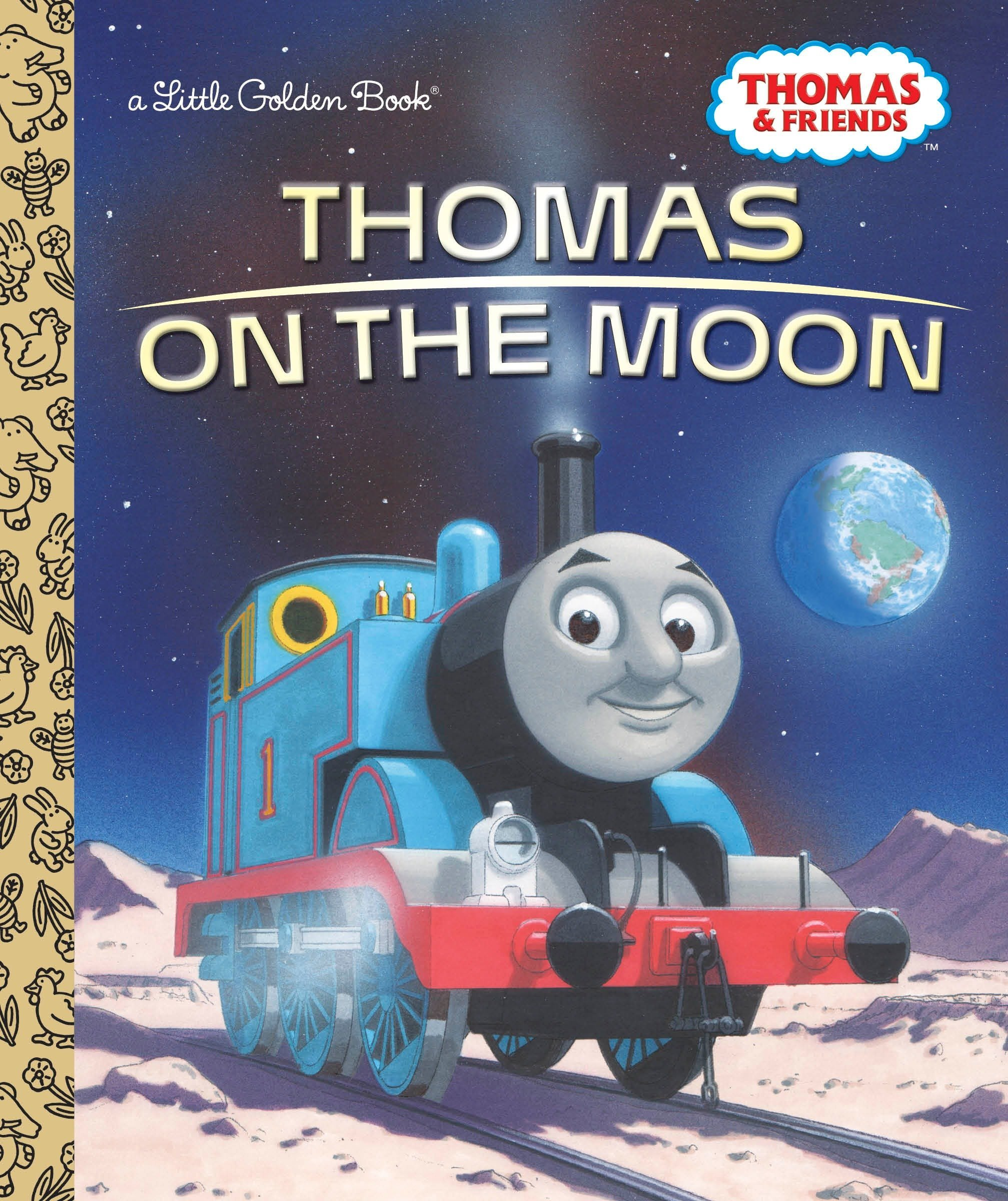Thomas on the Moon (Thomas & Friends) (Little Golden Book) Hardcover – January 3, 2017 Golden Books 0399558535 Media Tie-In Social Themes - Friendship