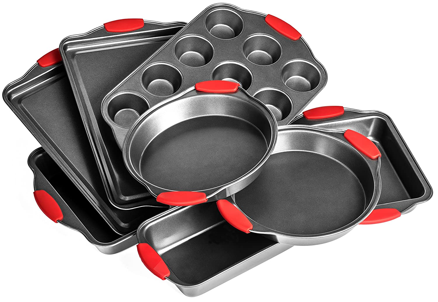 Elite Bakeware 8 Piece Ultra NonStick Baking Pans Set - Bakeware Set - Cookware Set SYNCHKG106630