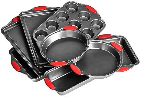 Elite Bakeware 8 Piece Ultra Nonstick Baking Pans Set Bakeware Set Cookware Set