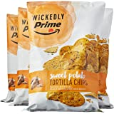 Wickedly Prime Sweet Potato Tortilla Chips, 13 Ounce (Pack of 4)
