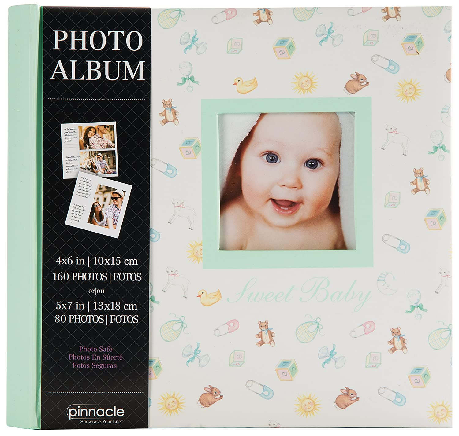 Pinnacle Frames and Accents 200 Pocket Book Bound Baby Photo Album