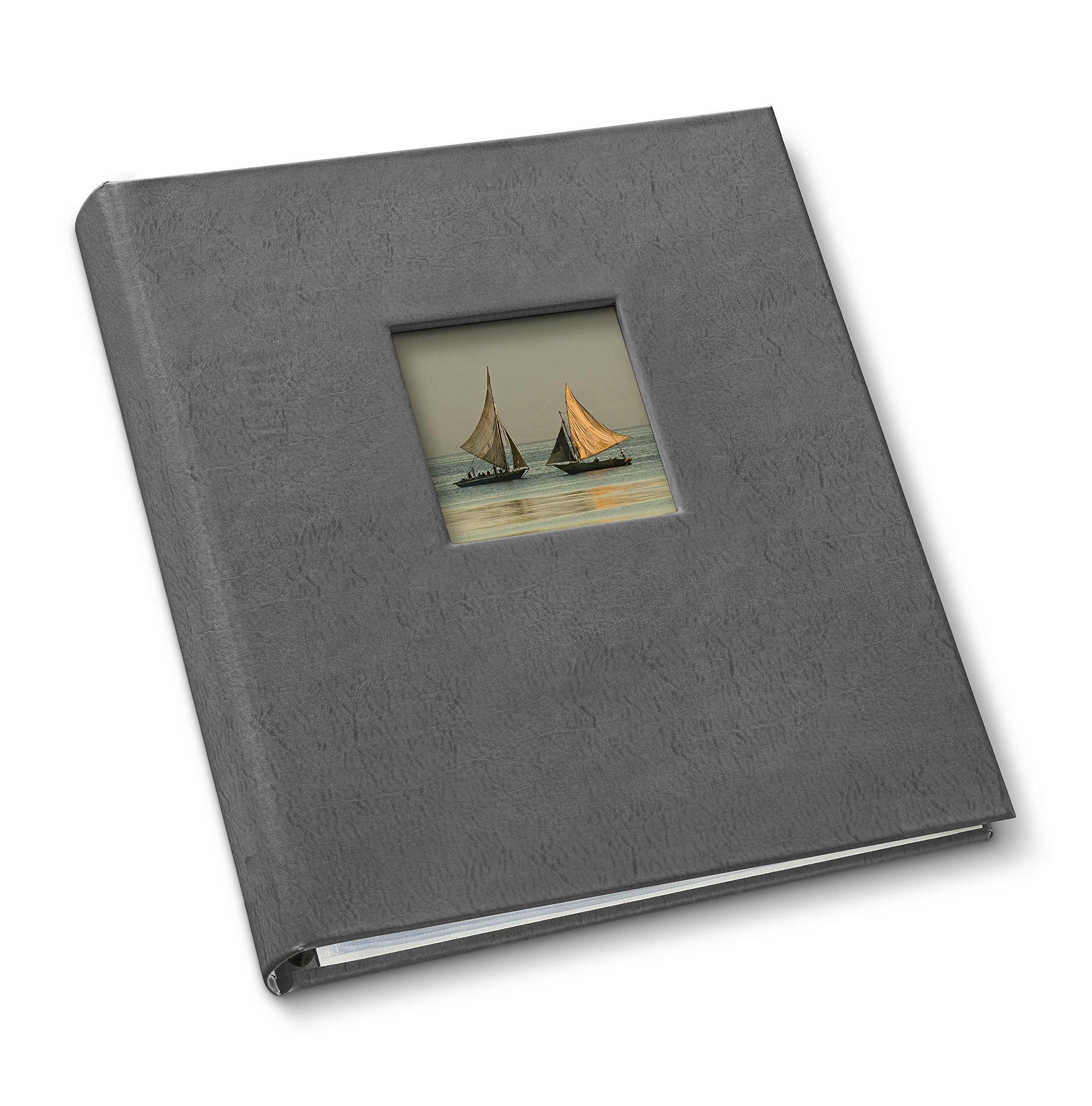 Gallery Leather Presentation Binder 1.25'' with Window Freeport Slate by Gallery Leather