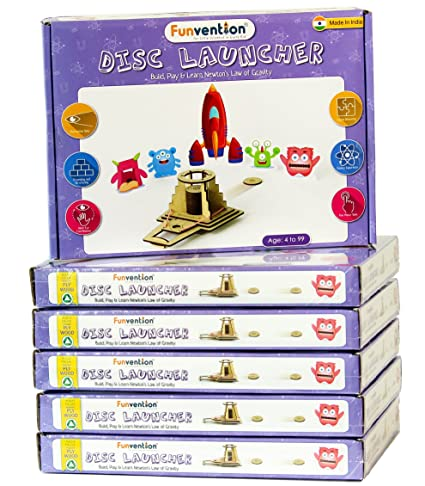 Buy funvention pack of 6 disc launcher diy science educational funvention pack of 6 disc launcher diy science educational toy stem learning solutioingenieria Images