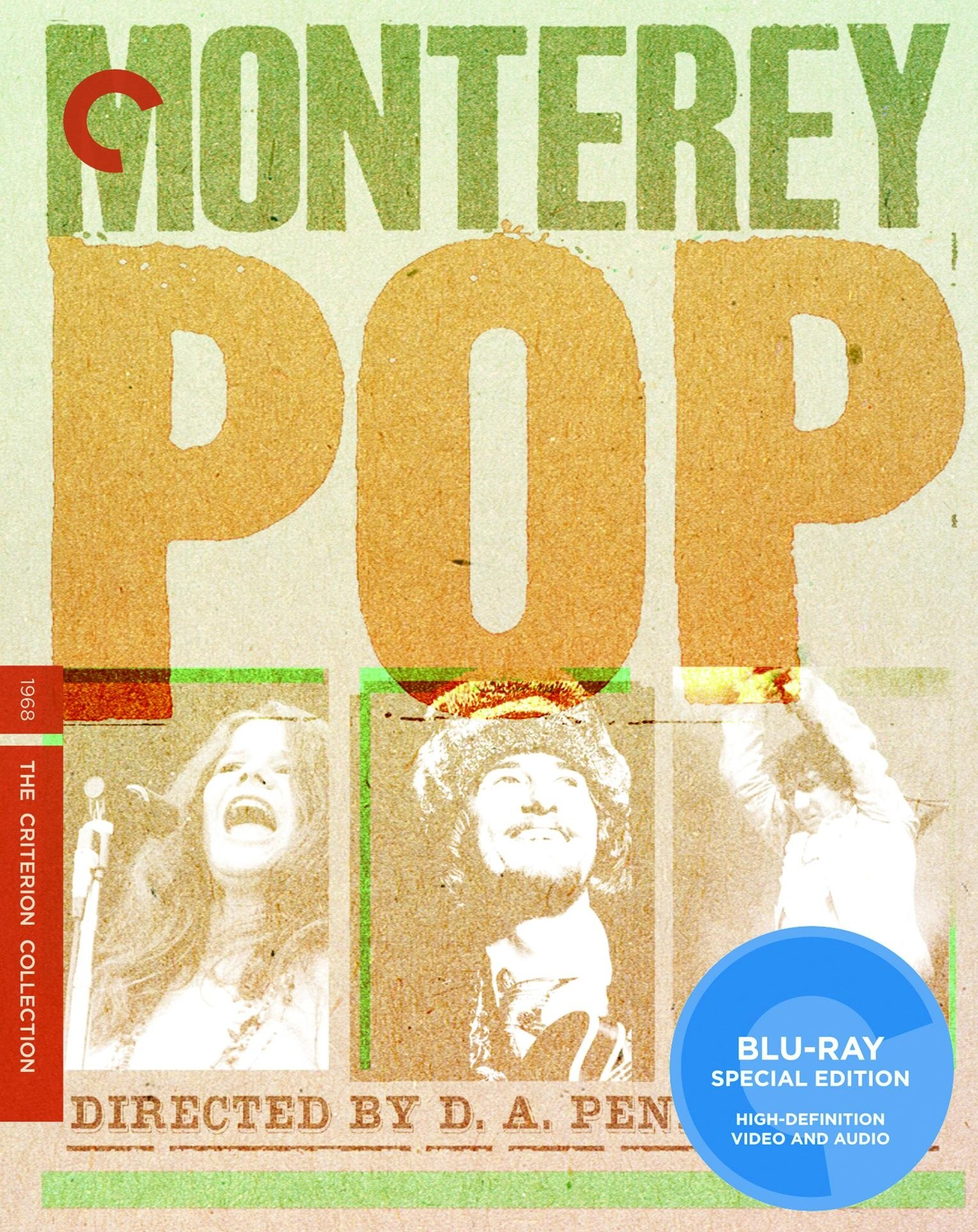 Blu-ray : Mama Cass Elliot - Criterion Collection: Monterey Pop (Full Frame, Dolby, Digital Theater System, AC-3)