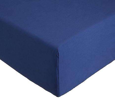 83e2e659d30 AmazonBasics Everyday - Sábana bajera ajustable (100% algodón) Azul marino  - 180 x
