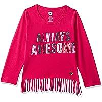 612 League Girls' Animal Print Regular Fit Long Sleeve Top