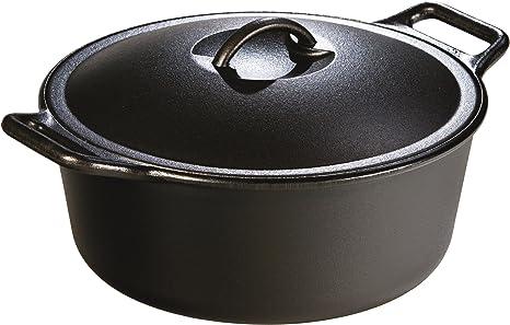 Amazon Com Lodge B0001djvgu Seasoned Dutch Oven 7 Quart 7 Qt Black Campfire Cookware Kitchen Dining