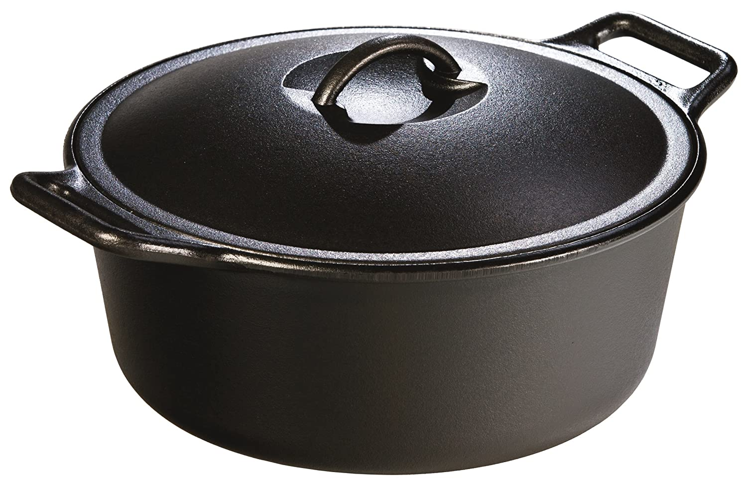 Lodge 6.62 litre / 7 quart Pre-Seasoned Cast Iron Dutch Oven (with Loop Handles) P12D3