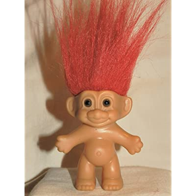 NAKED RED HAIR 4 Inch Troll Doll Figure: Toys & Games