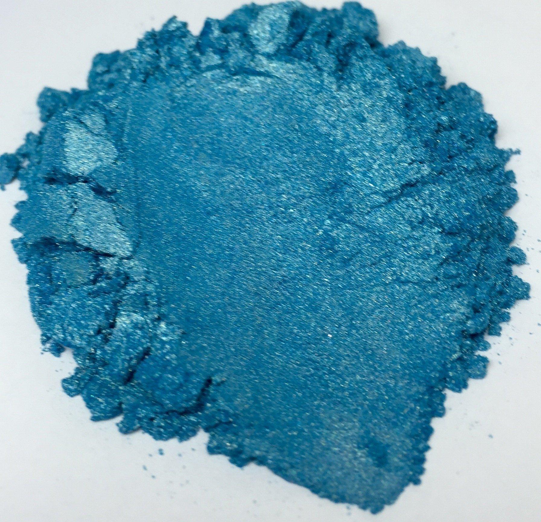 42g/1.5oz''BORA BORA BLUE'' Mica Powder Pigment (Epoxy,Resin,Soap,Plastidip) Black Diamond Pigments