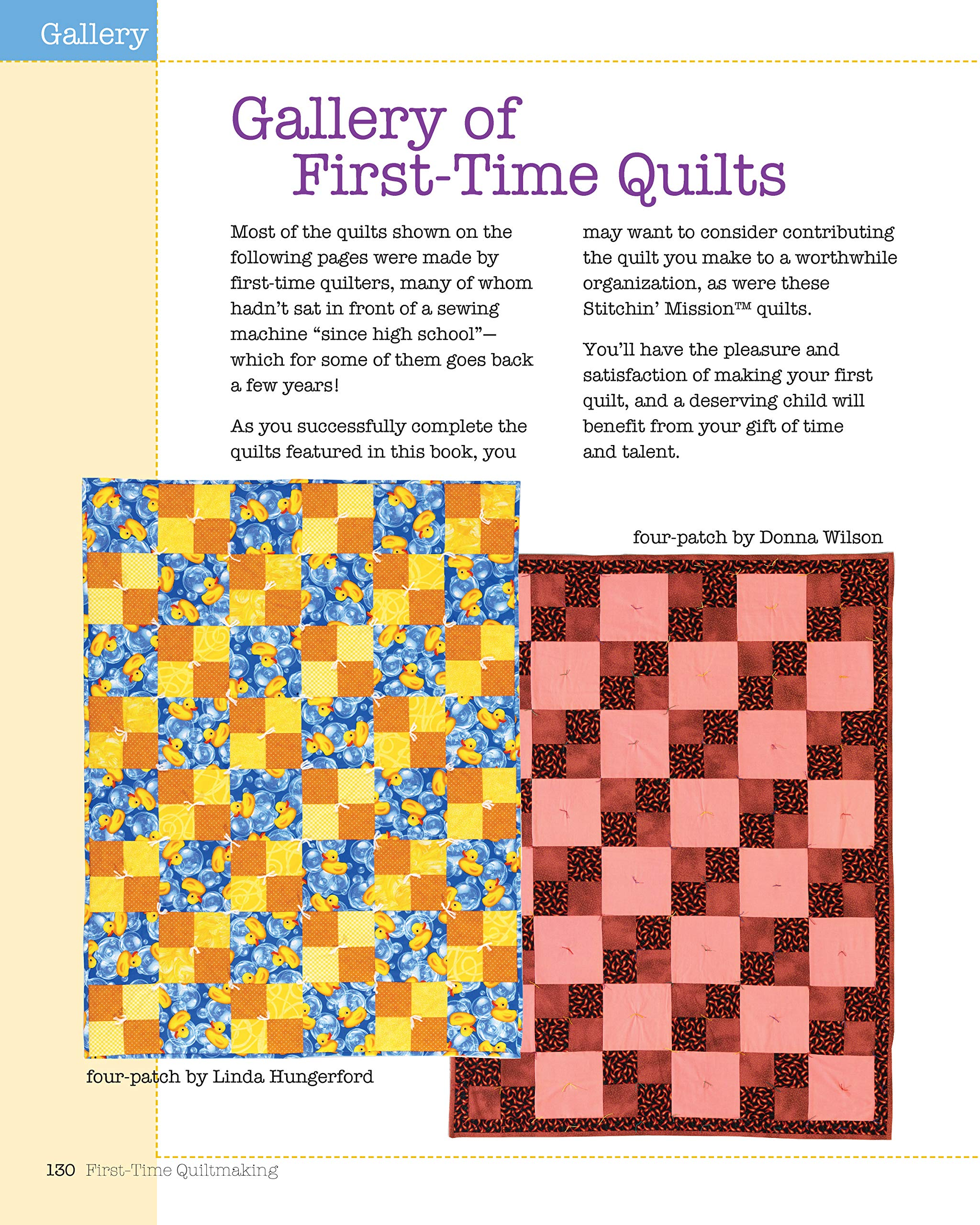 PINK Moda Fabric Top /& Back Label Binding /&More LEARN TO SEW MY FIRST QUILT KIT