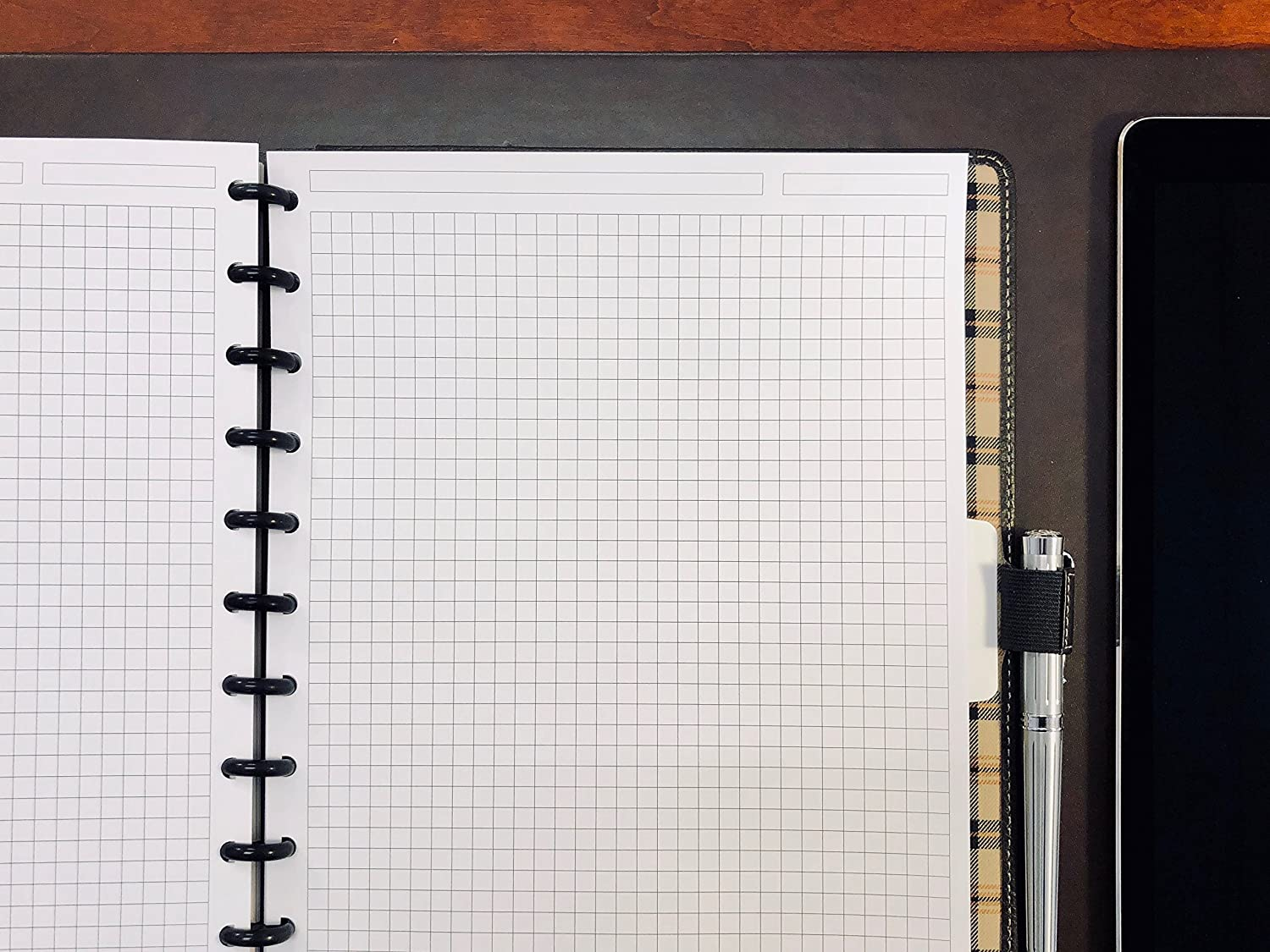 Premium Heavyweight Discbound Notebook Paper Refills Punched for Circa Eleven Discs 2020 Junior Weekly Planner Sheets Arc 54 Sheets TUL