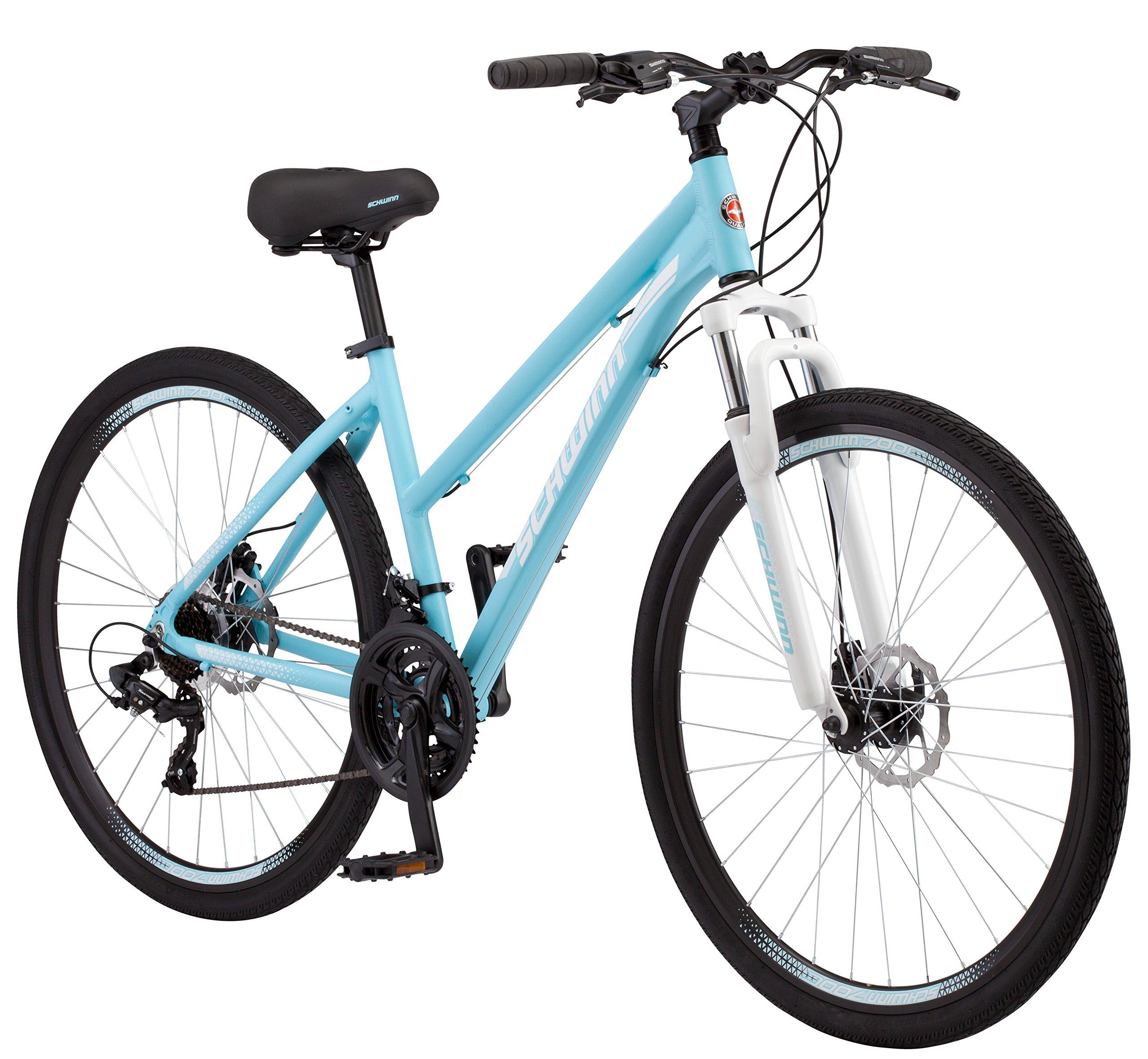 Schwinn GTX 2 Women's Dual Sport 700c Wheel Bicycle, Blue, 16 ''/Small Frame Size