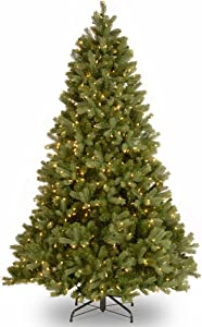 National Tree Company 'Feel Real' Pre-lit Artificial Christmas Tree | Includes Pre-strung White Lights and Stand | Downswept Douglas - 7.5 ft