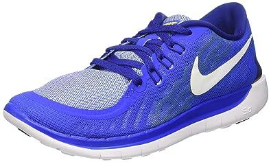 new concept ada51 2515c Nike Unisex-Kinder Free 5.0 (GS) Laufschuhe, Blau (Hyper Cobalt