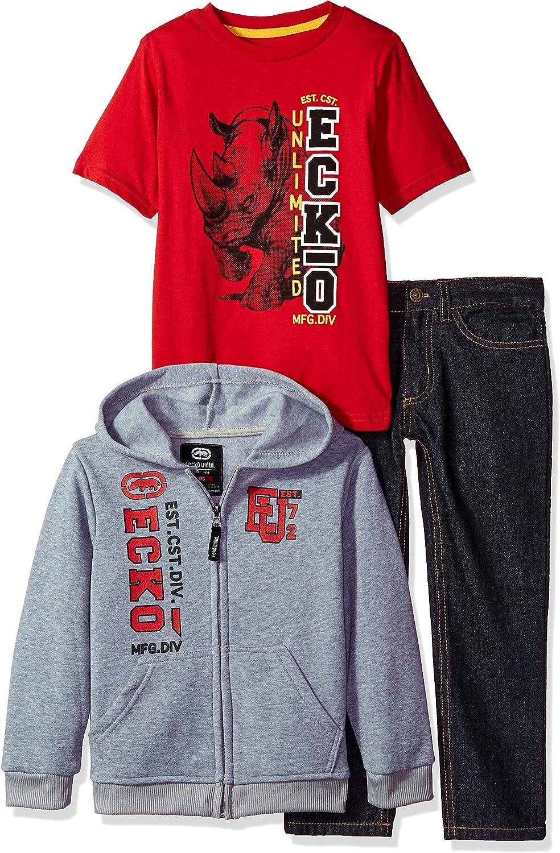 More Styles Boys Short Sleeve Printed Crew Neck T-Shirt Ecko Unltd