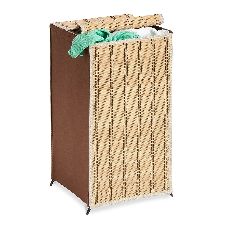 Amazon com honey can do hmp 01619 tall wicker weave hamper bamboo laundry organizer home kitchen