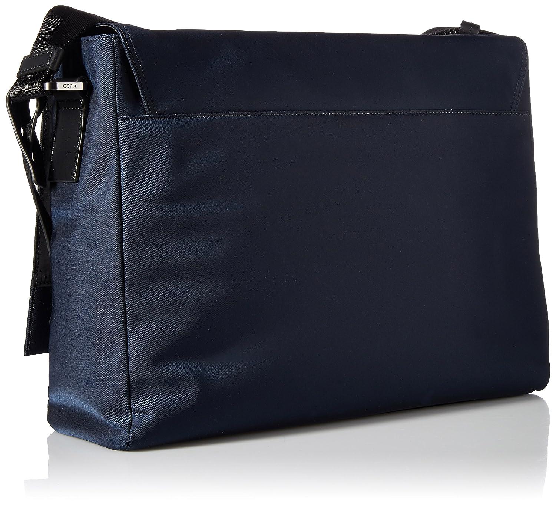 ec2e0bd6ef4 HUGO by Hugo Boss Men's Capital Nylon Messenger Bag, dark blue One Size:  Amazon.ca: Clothing & Accessories