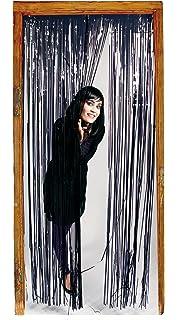 Halloween Türvorhang 1 x 2 m Tür Deko Vorhang Dekoration schwarz Fransenvorhang