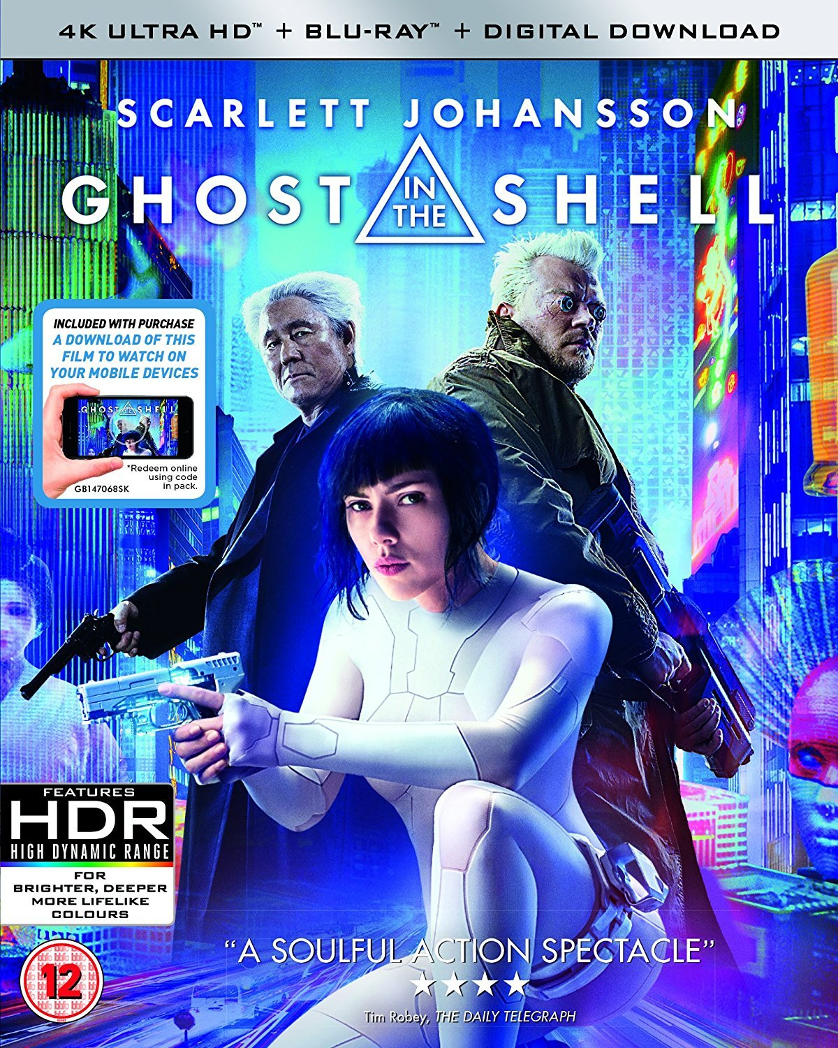 Amazon Com Ghost In The Shell 4k Uhd Blu Ray Scarlett Johansson Michael Wincott Michael Pitt Rupert Sanders Movies Tv