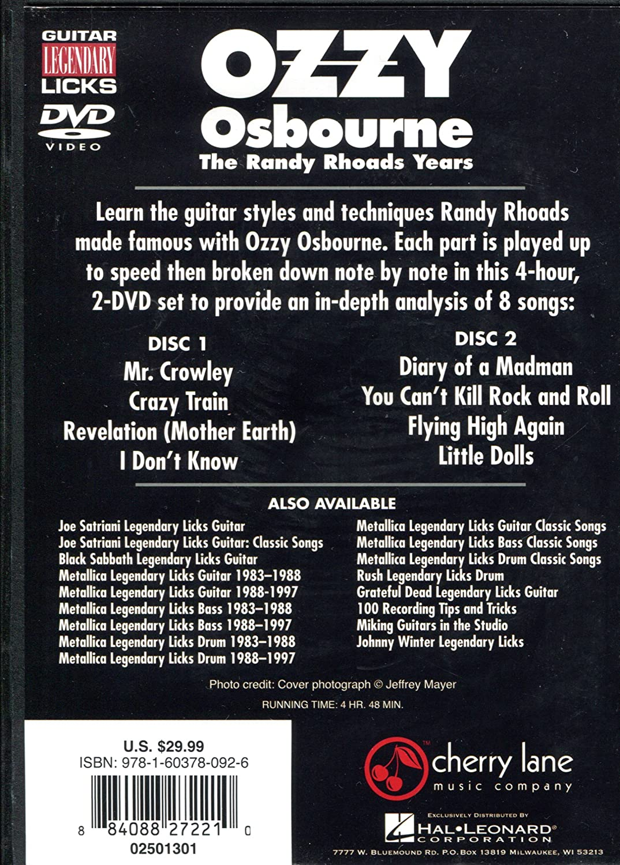 Amazon Ozzy Osbourne The Randy Rhoads Years Movies Tv