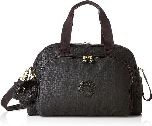 Kipling CAMAMA Messenger Bag, 44 cm, 22 liters, Black Black Pylon Emb